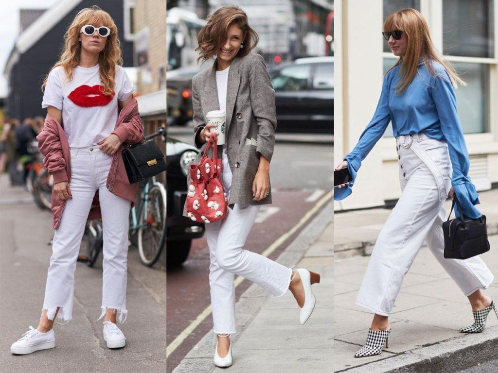 Białe spodnie stylizacje – komu pasują i co do nich dobrać?